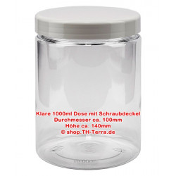 1000 ml PET can clear with...