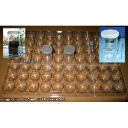 Carrier for 70 pieces 25ml